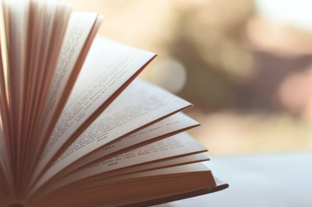 book pages fanning